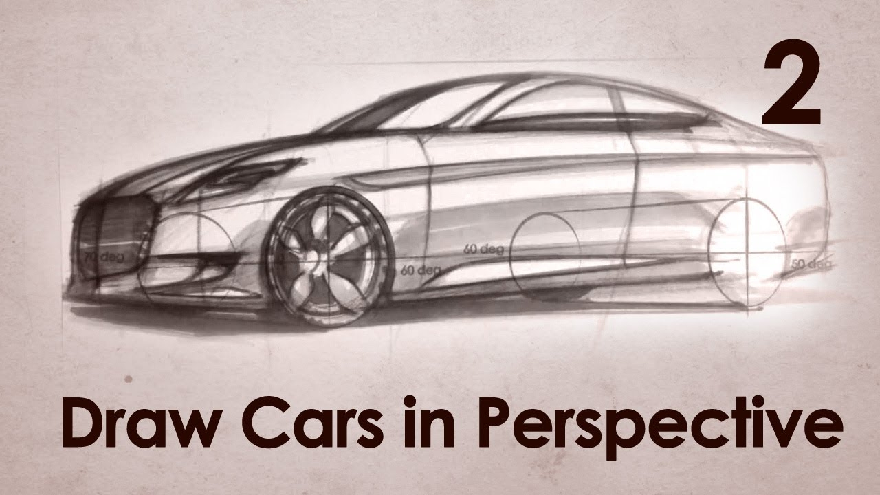 How to Draw Cars in Perspective Part 2 - YouTube