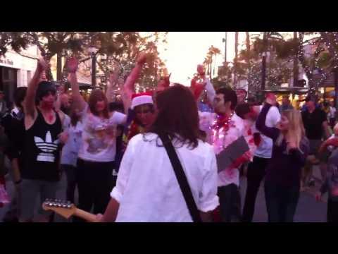 Zombie Flash Mob Santa Monica Gimme Shelter