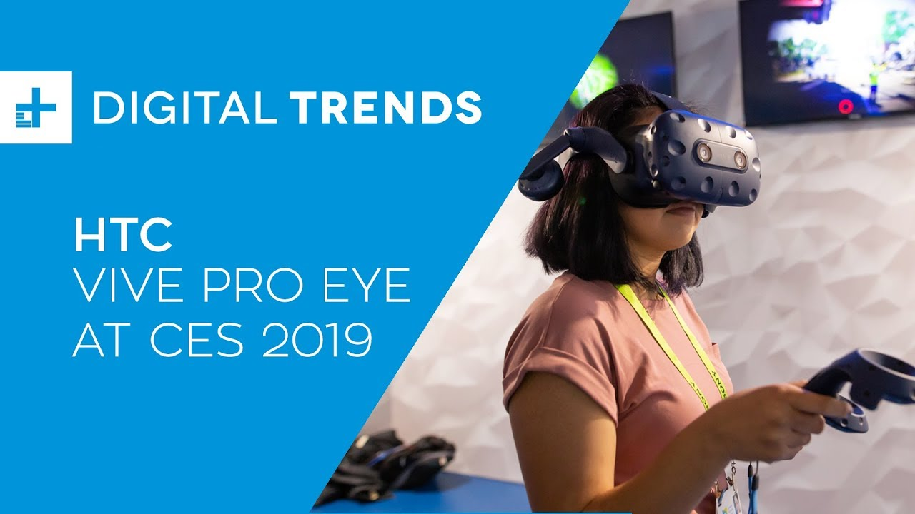 44a87a9ed22 HTC Vive Pro Eye - Hands On at CES 2019 - YouTube