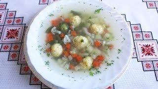 Овощной суп с фрикадельками из сыра Как приготовить суп Овочевий суп з фрикадельками зі сиру зупа