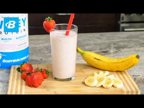 Strawberry Banana Protein Smoothie Recipe