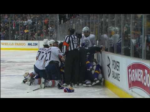 Drew Doughty's Thundering hit on Taylor Hall - Jan 15th 2011 (HD)