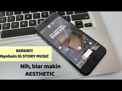 KERENN!! Cara membuat instagram story musik iPhone, Android gampang banget