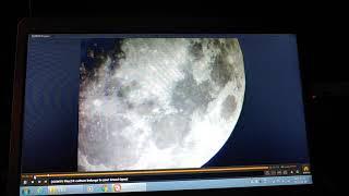 천체망원경으로 달 관측 중 발견한 UFO:12시~1시방…