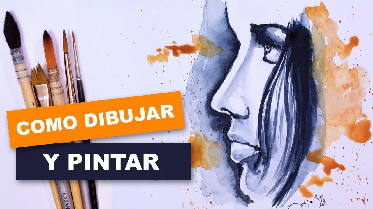 Como Dibujar Y Pintar Facil El Rostro De Una Mujer De