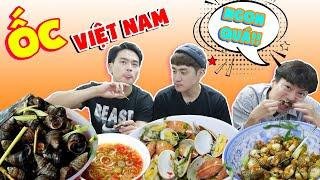 Phản ứng người Hàn khi ăn thử các loại ốc của Việt Nam !!
