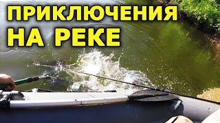 Реальная рыбалка на реке Чулым Спиннинг с лодки на реке Ловля спиннингом на реке