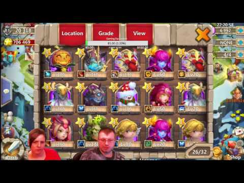 Castle Clash 10,000 F2P Gem Rolling With Tons Of Achievements To Collect
