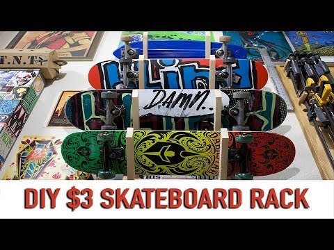Simple $3 DIY Skateboard Rack