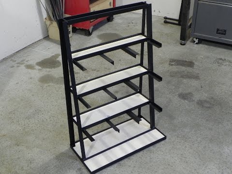 Making a stock storage rack