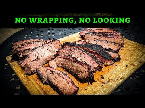 No Wrap Full Packer Brisket on the Rec Tec 700 Pellet Smoker - Texas Brisket Rub