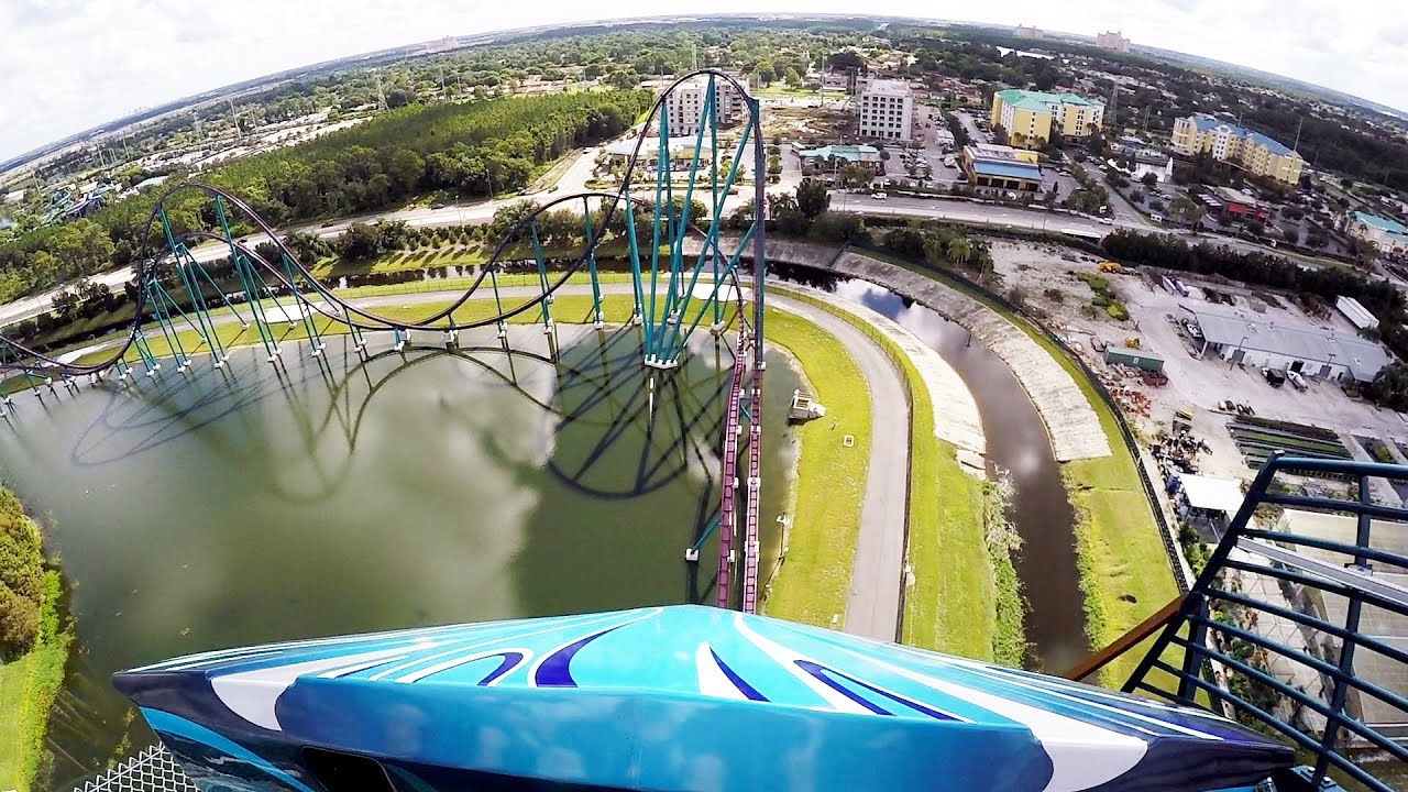 Image result for drop view of mako rollercoaster