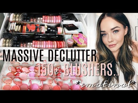 Decluttering and Organizing My HUGE Makeup Collection | Blusher