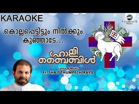 KOLLAPETTITTUM NILKKUM KUNJADE Karaoke with Lyrics | Holy Bible | Fr Shaji Thumpechirayil