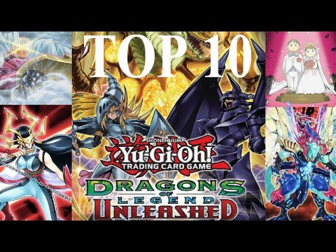 Yugioh Top 10 EPIC Dragons of Legend Unleashed Cards and Complete Set Review!