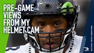 Pre-Game Views from Helmet Cam against the Vikings! | Russell Wilson