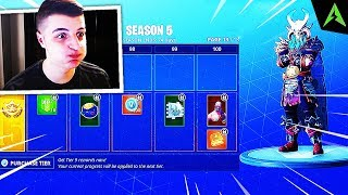 THE NEW BATTLE PASS OF SEASON 5 * NOW IN FORTNITE..