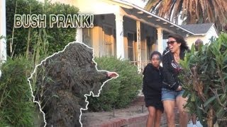 BUSH PRANK IN HUNTINGTON BEACH! (COPS CALLED!)