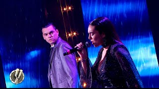 ¡Impresionante! Ángela Leiva y Brian Lanzelotta cantaron