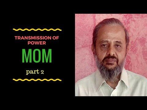 Karnataka Diploma Mechanics of Machine - Transmission of power - Part 2