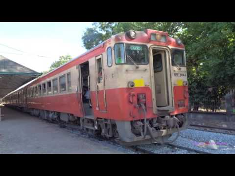 Passenger Trains in Myanmar (Burma) - Dec 2016 รถไฟในพม่า