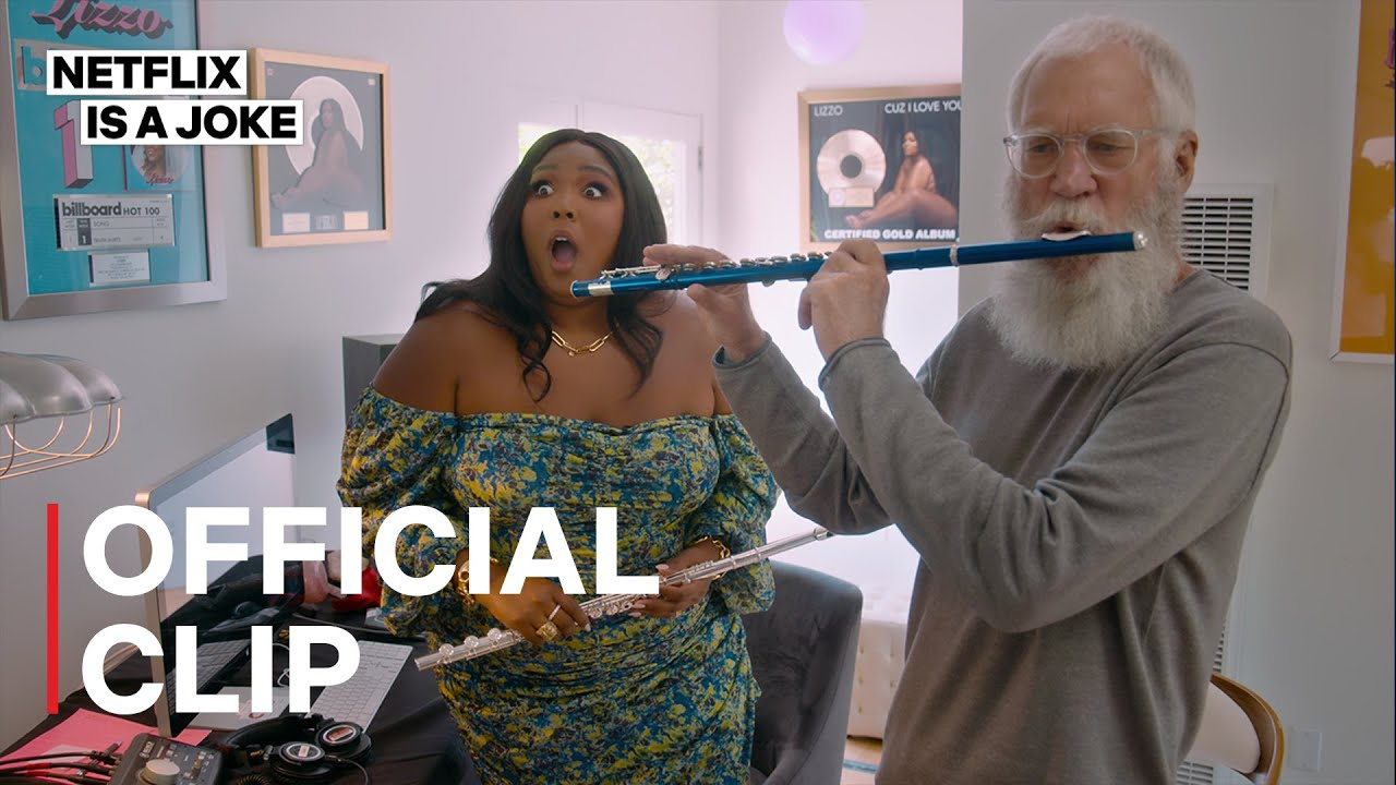 My Next Guest Needs No Introduction with David Letterman | Lizzo and Letterman play the flute