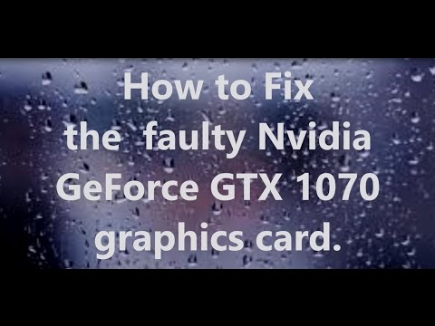 Fix Faulty Nvidia Geforce gtx 1070 1060 1050 Graphics Card Micron Memory  Voltage Vram Issue video