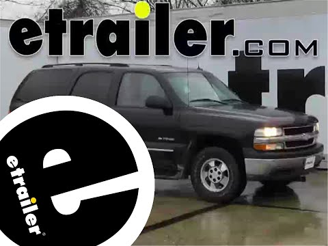Installation of a Front Mount Trailer Hitch on a 2003 Chevrolet Tahoe - etrailer.com