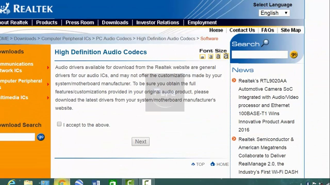 descargar realtek high definition audio