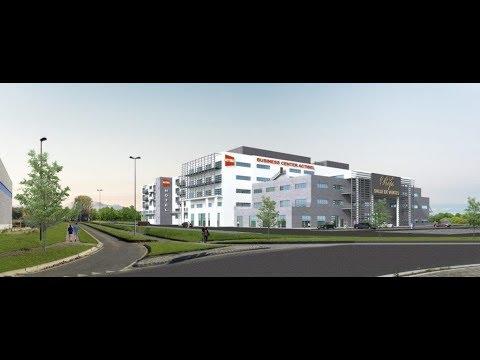 """Pose des premiers """"hourdis"""" au Business Center d'Actibel à Ecolys"""