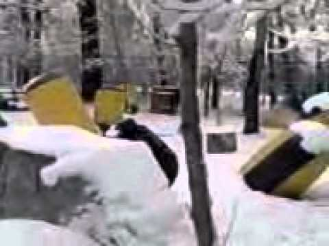 Paintball In Almaty In The Winter