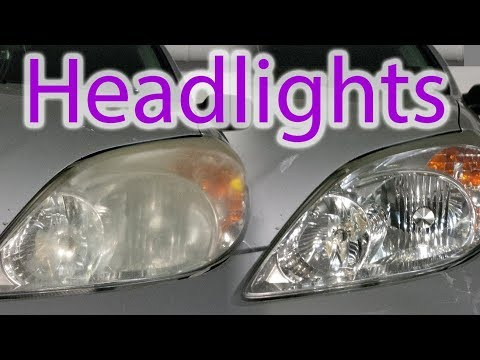 Cleaning old headlights on 12 year old car