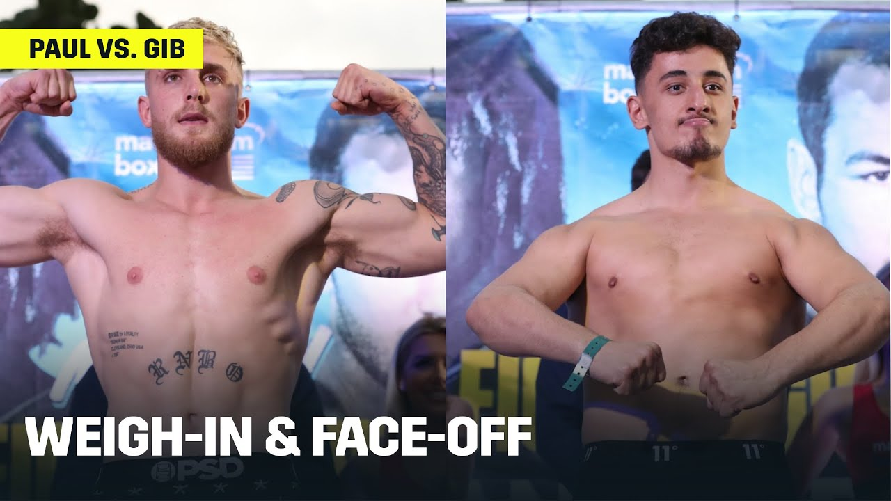 Download Jake Paul & AnEsonGib Weigh-In, Face-Off Ahead Of Fight