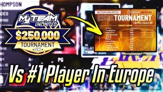 i played THE BEST NBA 2K20 MyTEAM player in Europe in the $250,000 Tournement and this happened....