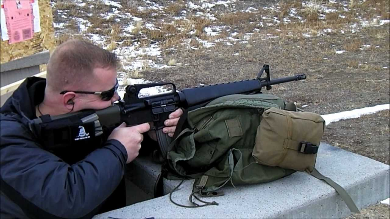 100 YARD 10 ROUND GROUP - BUSHMASTER A2 HBAR RIFLE