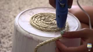DIY Sisal Rope Trashcan