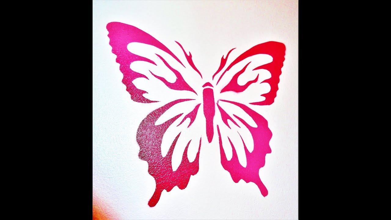 butterfly stencil using frisket film