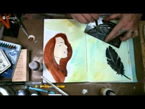 How to use Black Embossing Paste - Art Journal