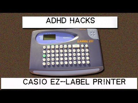 ADHD hack: Casio label printer review