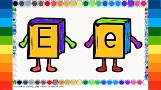 Abecedario en Español para Niños con animaciones, colores y música de la letra E