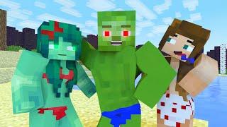Minecraft Life of ZomBo & Zomma   Noob vs Pro   Minecraft Animation