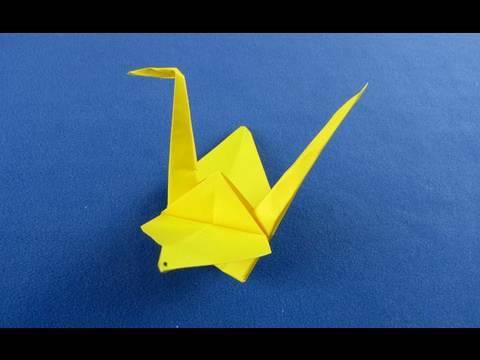 Papercraft Cigno origami  How to Make a Paper Japanese Crane - Origami swan  折纸   折り紙