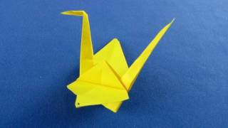 Cigno origami  How to Make a Paper Japanese Crane - Origami swan  折纸   折り紙