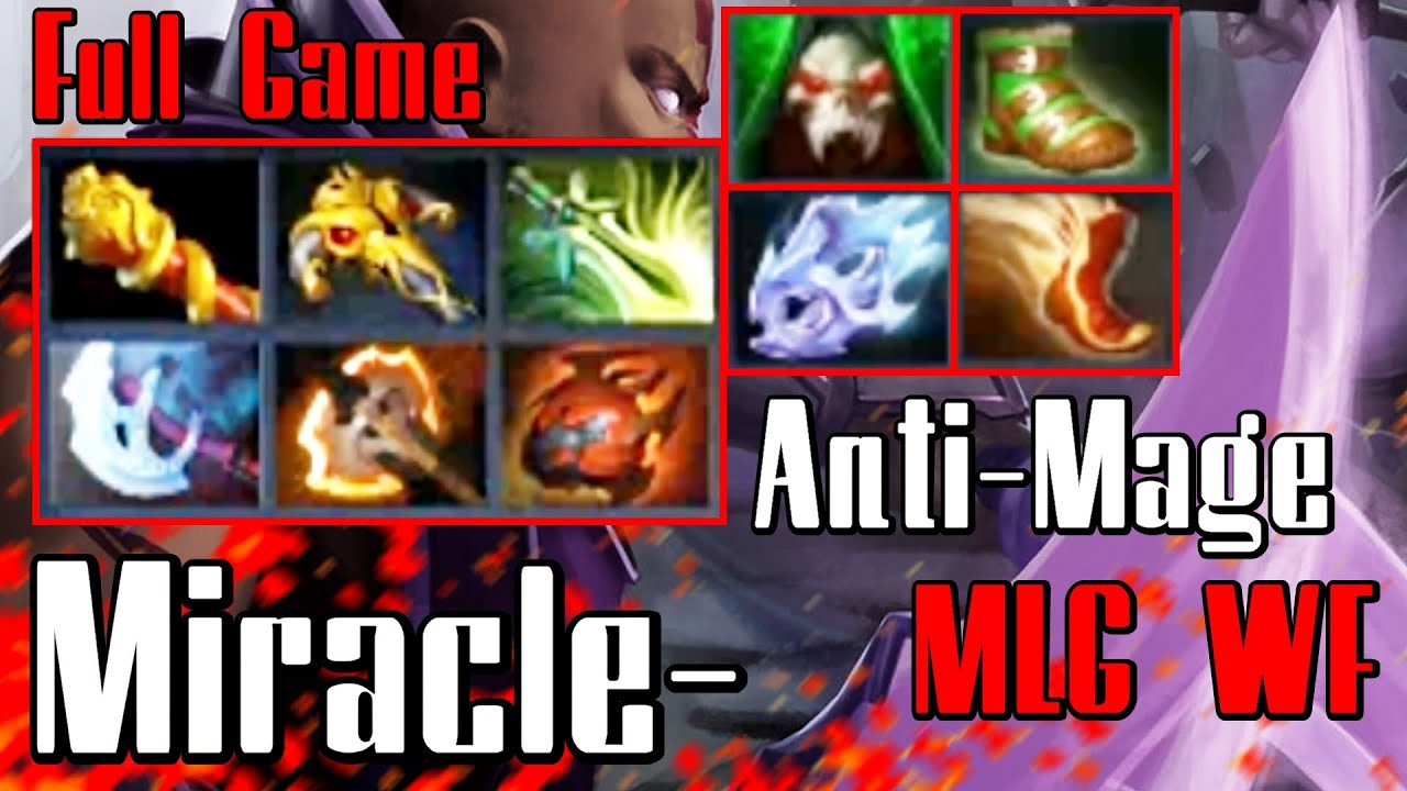 miracle anti mage dota 2 full game vol 10 monkey vs cis