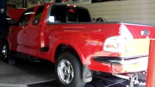 99 5 4l f 150 procharger dyno run 12psi another pull