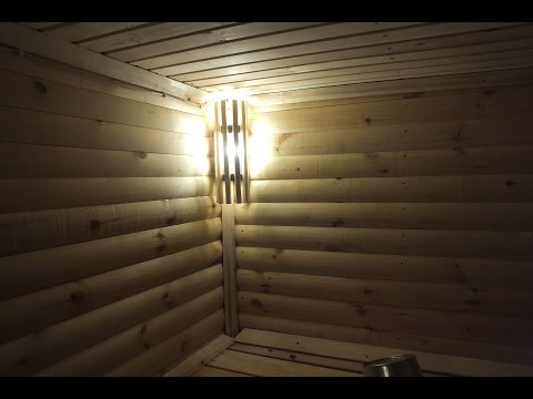 Баня. светильник в баню своими руками.
