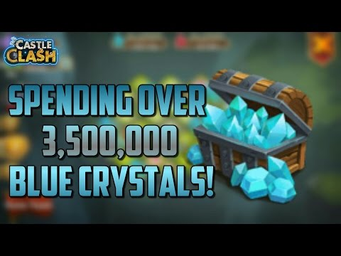 Castle Clash Spending Over 3,500,000 Blue Crystals!