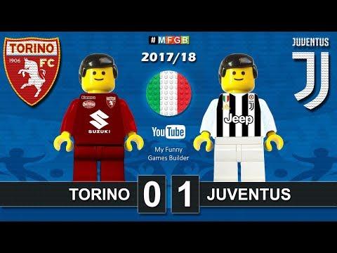 Torino Juventus 0-1 • Derby Serie A (18/02/2018) highlights sintesi Toro Juve Lego Calcio 2017/18