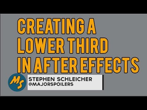 Building a Custom Lower Third in Adobe After Effects