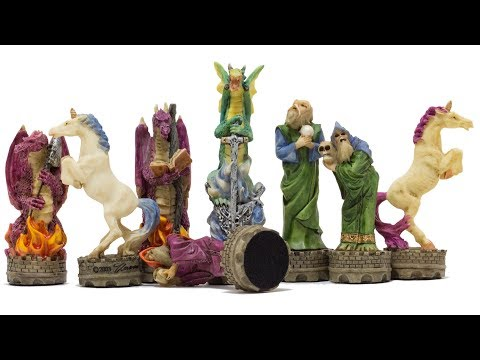 The Fantasy Hand Painted Themed Chess Pieces By Italfama [R73712]